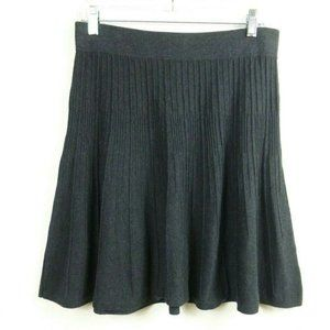 Cabi VOGUE SKIRT S Charcoal Gray Sweater Knit
